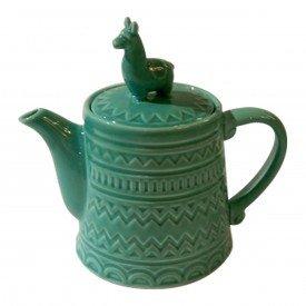 bule ceramica lhama verde 40470 urban casa cafe e mel