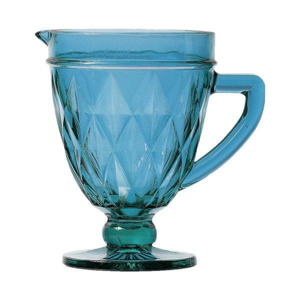 jarra de vidro diamond azul 1 litro lyor 6497 a casa cafe e mel