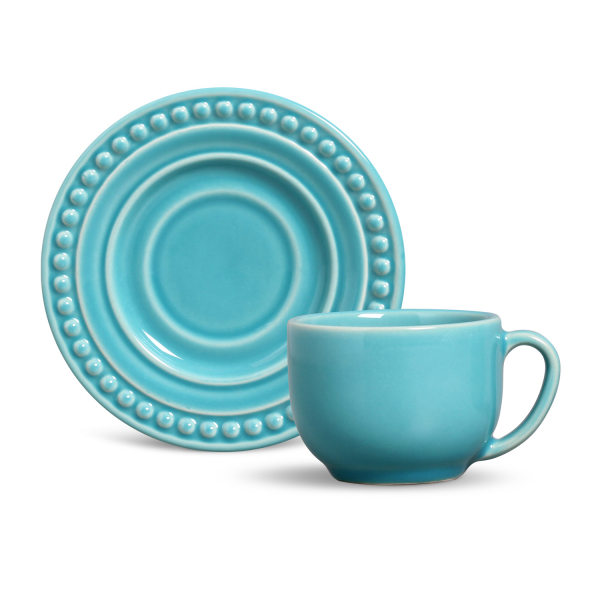 xicara de cha atenas azul poppy a porto brasil casa cafe e mel