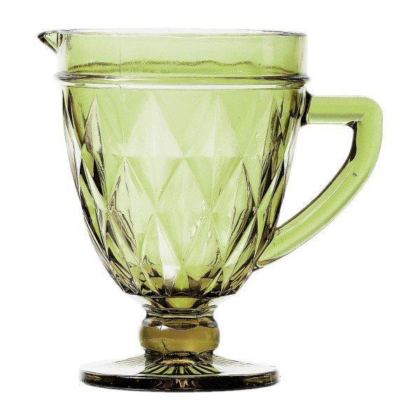jarra de vidro diamond verde 1 litro lyor 6496 casa cafe e mel