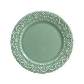 prato para sobremesa ceramica princess scalla verde casa cafe e mel