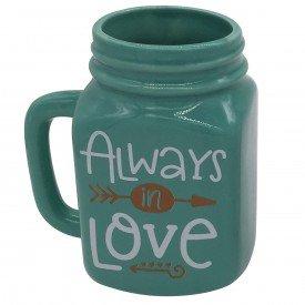 pote ceramica decortativo love 40103 urban casa cafe e mel