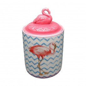 potiche decorativo flamingo rosa 41034 urban casa cafe e mel