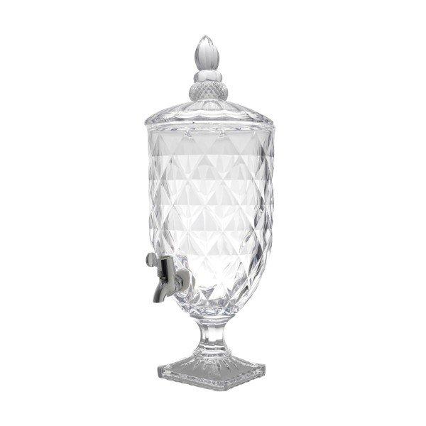 suqueira dispensador de bebidas diamond transparente 4 9l lyor 6775 a casa cafe e mel