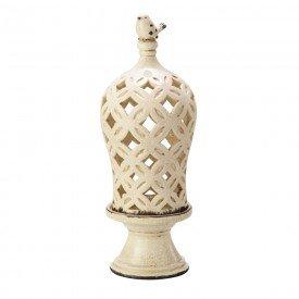 porta vela creme cupula de ceramica lyor 3289 a casa cafe e mel