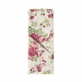guardanapo de tecido home flor rosa copa cia casa cafe e mel