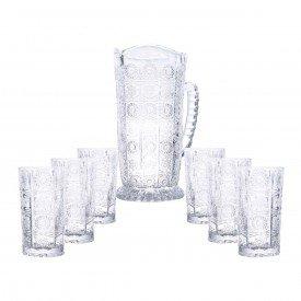 conjunto copos jarra vidro starry bon gourmet casa cafe e mel