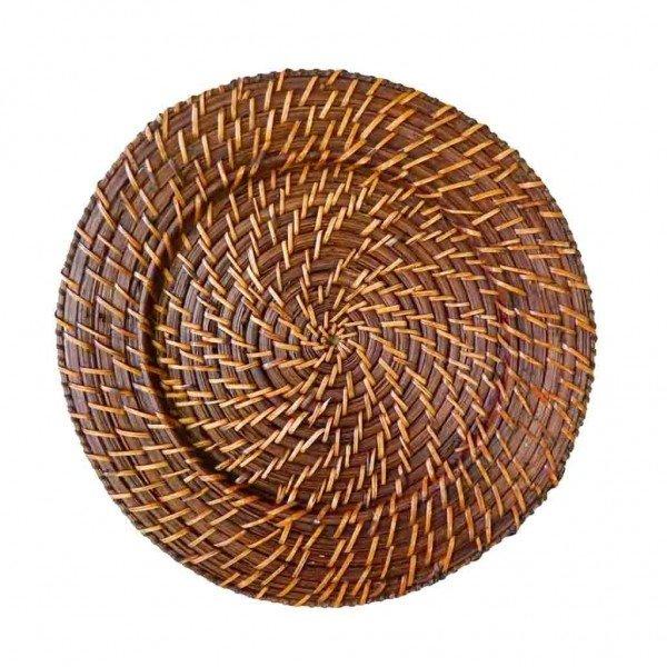 sousplat rattan e bambu redondo 3 gzt casa cafe e mel