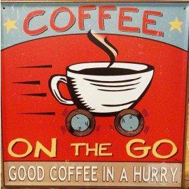 placa decorativa coffee casa cafe e mel