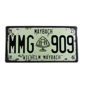 placa de carro decorativa alto relevo maybach casa cafe e mel