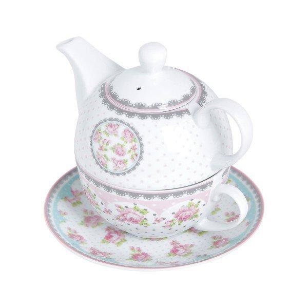 conjunto para cha white rose lyor casa cafe e mel 3