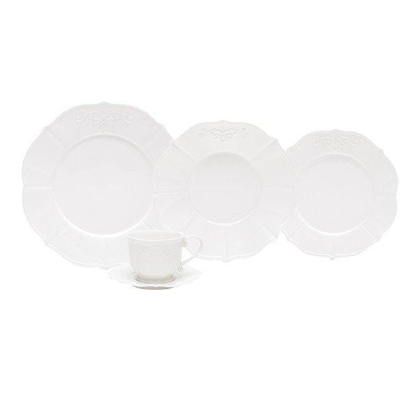 aparelho de jantar super white genebra 69033 lyor casa cafe e mel