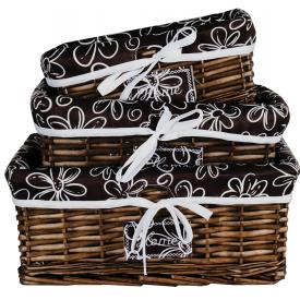 jogo cestos flores marrom dc0007 gzt casa cafe e mel