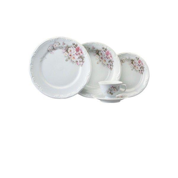 aparelho de jantar eterna porcelana schmidt casa cafe e mel