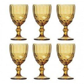 jogo 6 tacas 260ml para agua de vidro ambar libelula lyor l66943 4383 1 20181207154629