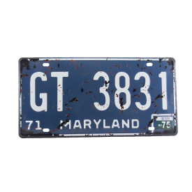 placa de carro decorativa alto relevo maryland gt casa cafe e mel