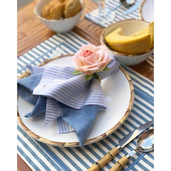 jogo americano stripes azul mameg casa cafe e mel