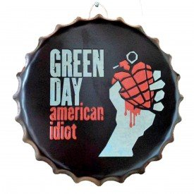placa tampa de garrafa green day casa cafe e mel