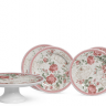 conjunto para bolo paris scalla 184 1949 rosa casa cafe e mel
