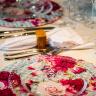 Sousplat Floral Xadrez Bendita Feitura - Casa Café e Mel