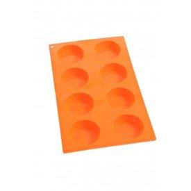 forma de silicone redondo 8 bolos b lol casa cafe e mel
