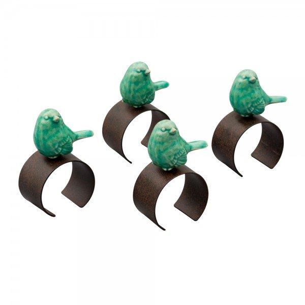 argola para guardanapo bird verde 6434 lyor casa cafe e mel 2