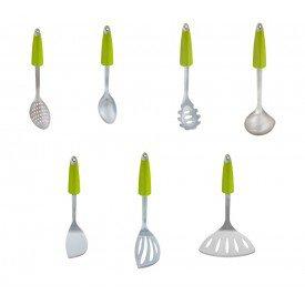 kit utensilios para cozinha verde lol casa cafe e mel