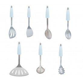 kit utensilios para cozinha branco lol casa cafe e mel