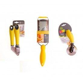 kit acessorios amarelo lol casa cafe e mel