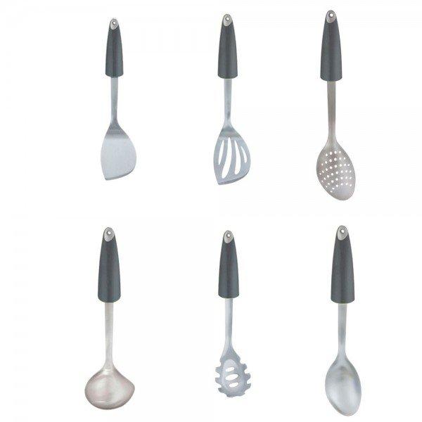 kit utensilios para cozinha cinza lol b casa cafe e mel