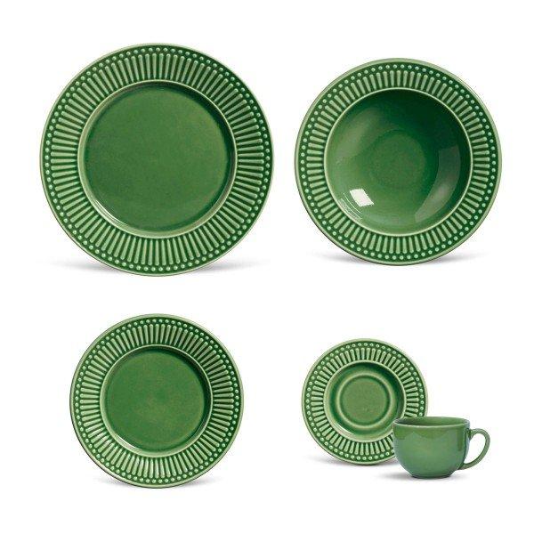 aparelho de jantar roma verde salvia porto brasil casa cafe e mel