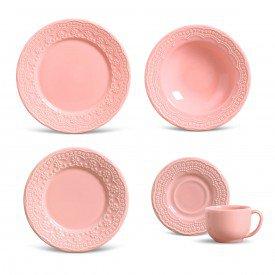 aparelho de jantar madeleine rosa 30 pcs porto brasil casa cafe e mel