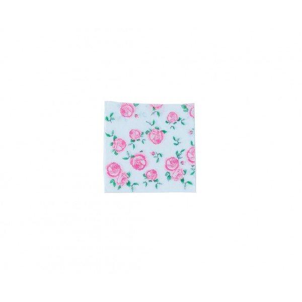 gurdanapo de papel rosas fundo branco casa cafe e mel 7