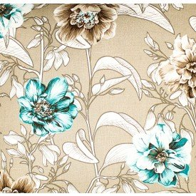 jogo americano de tecido agata cortbras creme floral 7502 casa cafe e mel