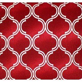 jogo americano de tecido agata cortbras vermelho com detalhe branco 7515 casa cafe e mel