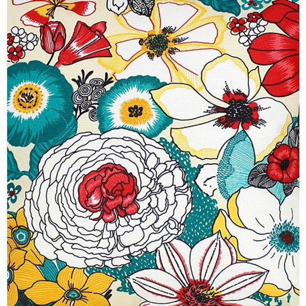 jogo americano de tecido aquamarine cortbras floral 497 casa cafe e mel