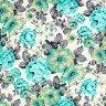 jogo americano de tecido belize cortbras floral verde agua 981 casa cafe e mel