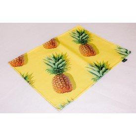 jogo americano de tecido citrus cortbras amarelo com abacaxi 8082 casa cafe e mel