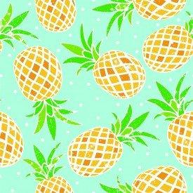 jogo americano de tecido citrus cortbras azul com abacaxi 8083 casa cafe e mel