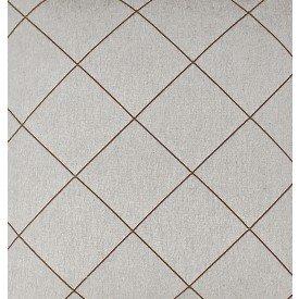 jogo americano de tecido creta cortbras cinza com linhas marrom 7919 casa cafe e mel