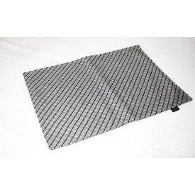 jogo americano de tecido creta cortbras cinza com listras pretas 7925 casa cafe e mel 3