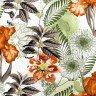 jogo americano de tecido trancoso cortbras flores laranjas 2410 casa cafe e mel
