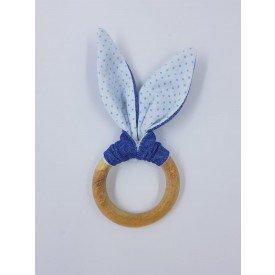 argola orelha coelho poa azul amora casa bb casa cafe e mel 1
