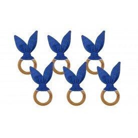 argola orelha coelho poa azul amora casa casa cafe e mel 1
