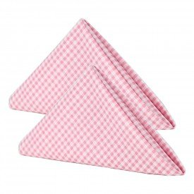 guardanapo gourmet xadrez rosa cortbras 108 kit 2 casa cafe e mel