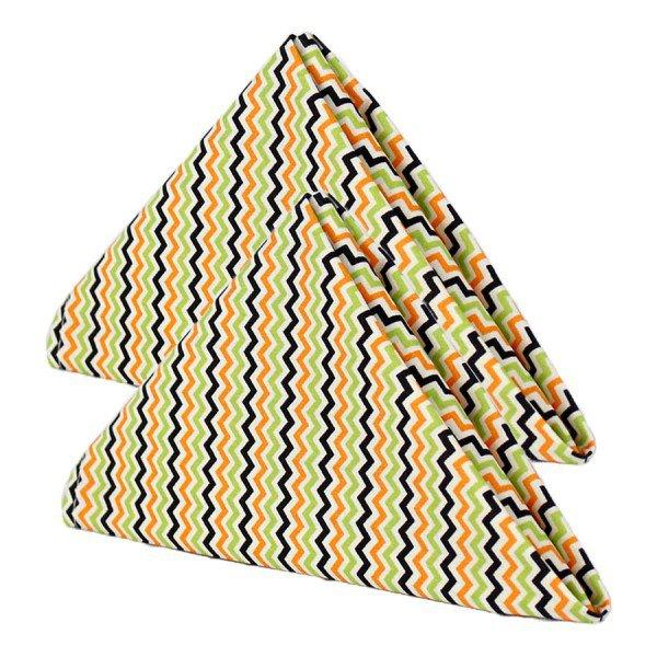 guardanapo gourmet zig zag amarelo e preto cortbras 114 kit 2 casa cafe e mel