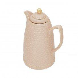 garrafa termica porcelana renda rosa 35492 a rojemac casa cafe e mel 1