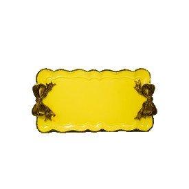 bandeja resina laco amarela 98779 lunne casa cafe e mel