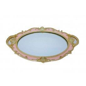 bandeja de resina espelhada oval provencal rosa lunne casa cafe e mel 1