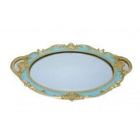 bandeja de resina espelhada oval provencal azul lunne casa cafe e mel 1